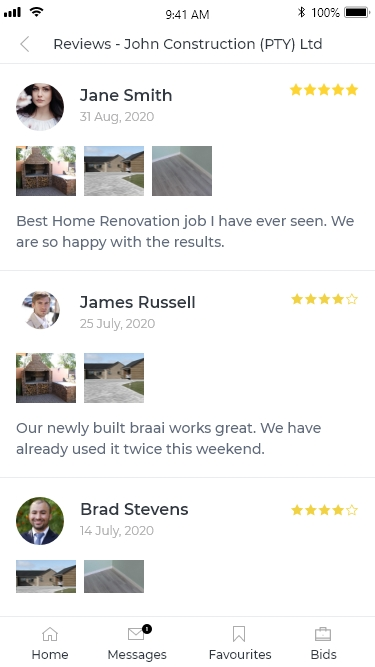 Contractor Reviews